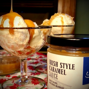 Top all your desserts with Java Jack's Irish Style Caramel Sauce