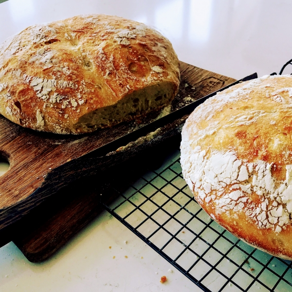 Artisan bread straight from the oven