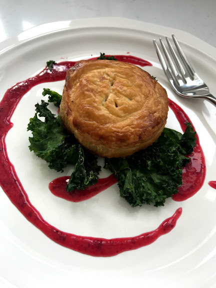 Rabbit Puff with Crispy Kale